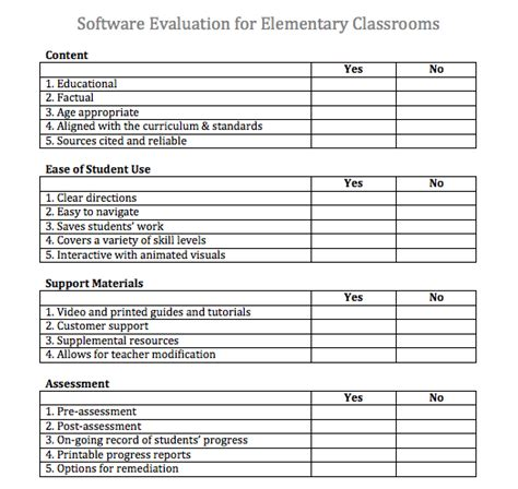 software evaluation template software evaluation matrix template search engine