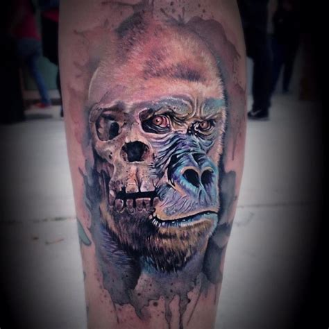 gorilla tattoos watercolor gorilla best ideas gallery