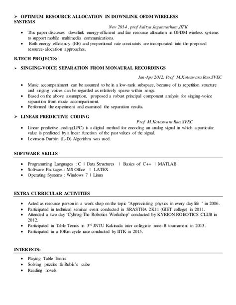 sle resume extracurricular activities 14104042 resume