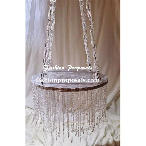 diy chandelier cake stand wedding cake stand cascade waterfall set of 11