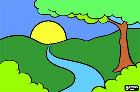 imagenes de paisajes naturales infantiles paisajes para n para colorear paisajes para n para imprimir