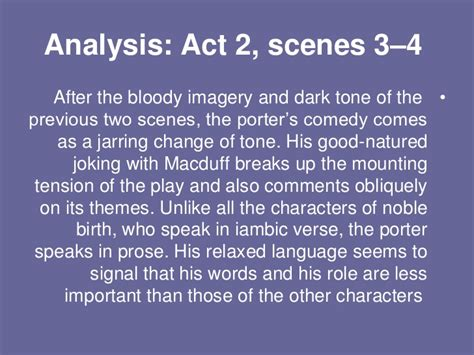 themes in macbeth act 4 scene 2 act 2 scene 3 4 by dina