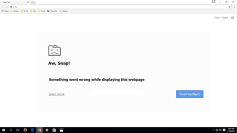 chrome aw snap how to fix aw snap something went wrong error in chrome