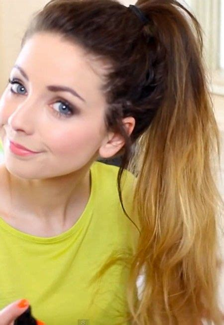 easy everyday hairstyles zoella simple ponytail hairstyles for everyday 2016 short hair