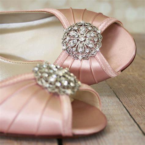 Blush Wedge Wedding Shoes by Pink Wedding Shoes Blush Pink Shoes Vintage Wedding Shoes