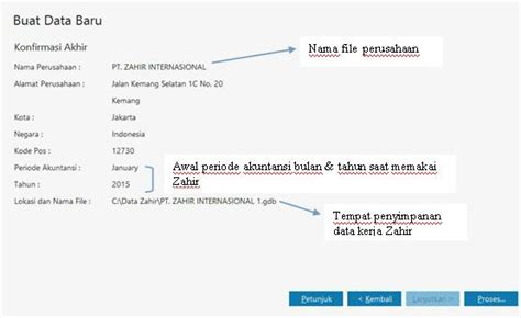 Aplikasi Program Zahir 6 Accounting Enterprise cara singkat untuk setting data baru di zahir accounting 6