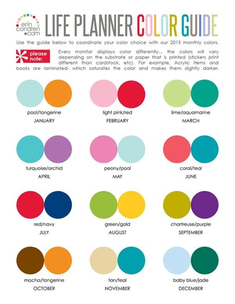 2 color combinations erin condren colors and google on pinterest