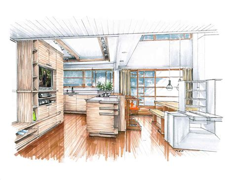 kitchen design sketch sketches kitchen sketch of remodeled with new color