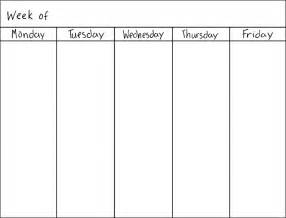 15 photos of 5 day monthly calendar printable