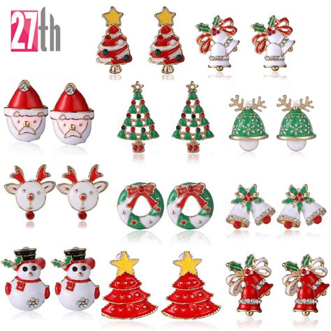 new fashion women santa claus snowman lovely tree bell
