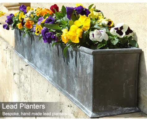 bespoke lead trough planters cedar nursery esi
