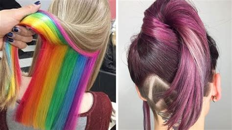 color hair styles 30 amazing hairstyles tutorials compilation 2017 new