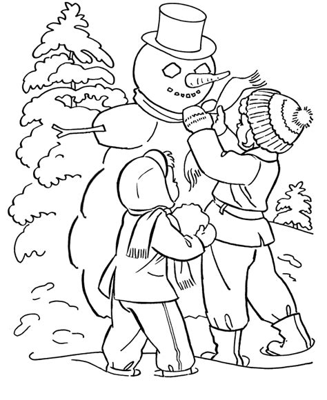Winter Free Coloring Pages sketches of winter coloring pages