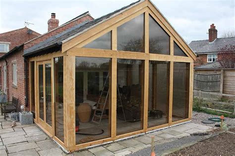 Garden Summer Houses Sheds - oak frame garden rooms wooden garden rooms chester cheshire