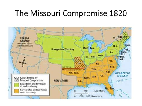 missouri compromise map events leading up to the civil war