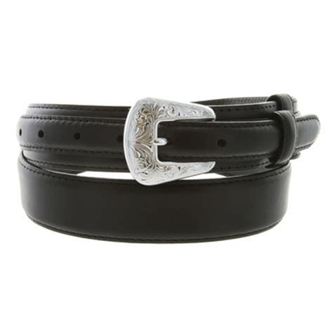 tanned leather ranger belt black