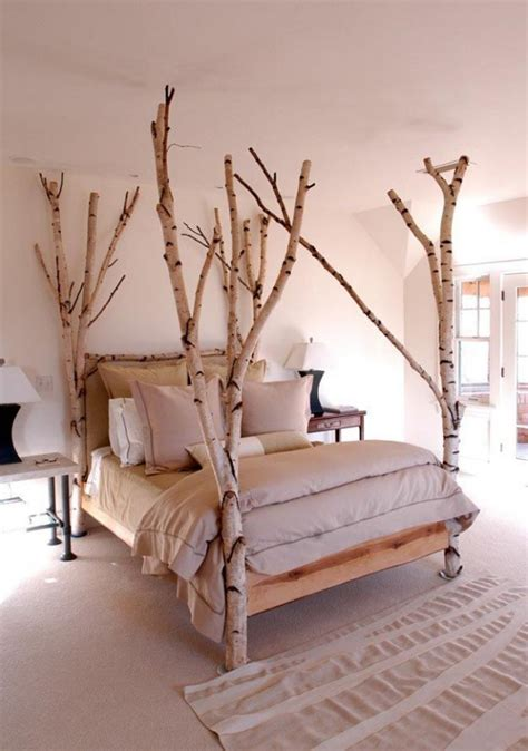 diy room decor birch trees bring nature to your living room