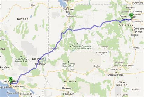 map las vegas denver road trip from los angeles to colorado