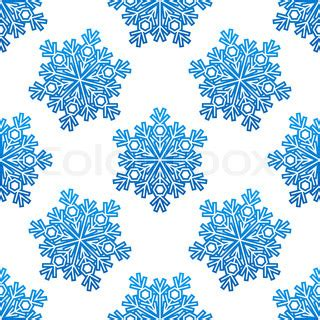 01bb23 Snowflake Patten Simple Design Blue decorative blue snowflakes seamless pattern for seasonal