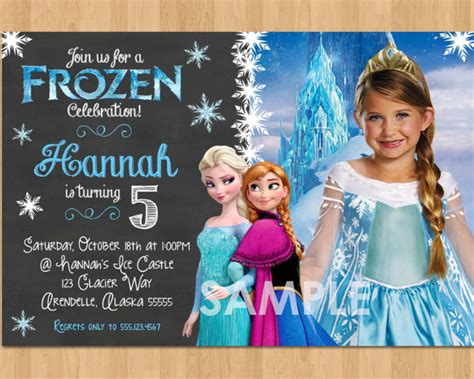 frozen birthday invitation with photo 10 frozen birthday invitation free psd ai vector eps format free premium templates