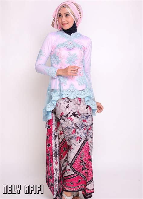 Kebaya Tile Payet Ba 061 model kebaya muslim modern simple dan modis