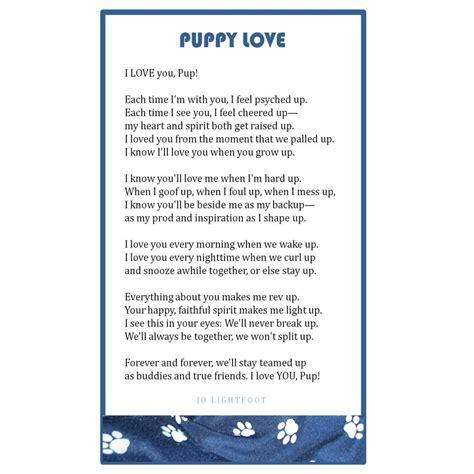 puppy poems jo lightfoot artist wordsmith everyday poet
