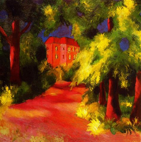 red house painters poster red house painting by august macke