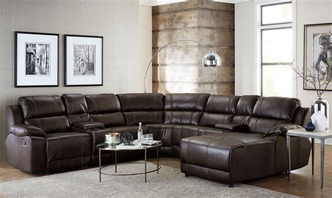 Furniture Sectional by Loretto 7 Reclining Sectional Java Levin Furniture