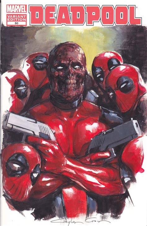 deadpool covers deadpool 50 cover painting by clayton crain in steve