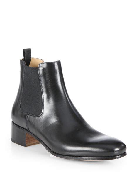 prada leather chelsea boots in black for nero black