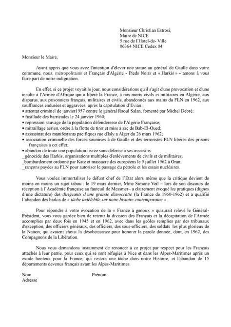 Exemple De Lettre Adressée Au Ministre De L Intérieur Modele Lettre Au Ministre Document
