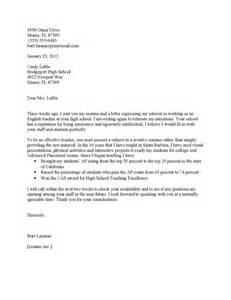Follow Up Cover Letter Sample Follow Up Cover Letter