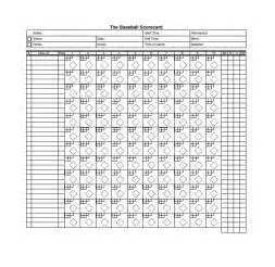 softball scorecard template 30 printable baseball scoresheet scorecard templates