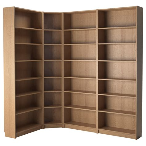 idea bookshelves billy bookcase oak 215 135x237x28 cm ikea