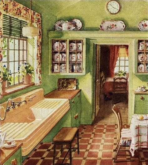 Distinctive House Design And Decor Of The Twenties | 1920 s kitchen butler s pantry original kitchen cabinets