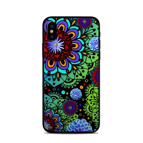 Shiny Funky And A License To Wed by Apple Iphone X Skin Funky Floratopia By Fusion Idol
