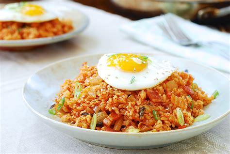 kimchi fried rice kimchi bokkeum bap korean bapsang