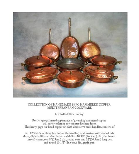 Handmade Copper Cookware - handmade mediterranean copper cookware hammered 14 pcs