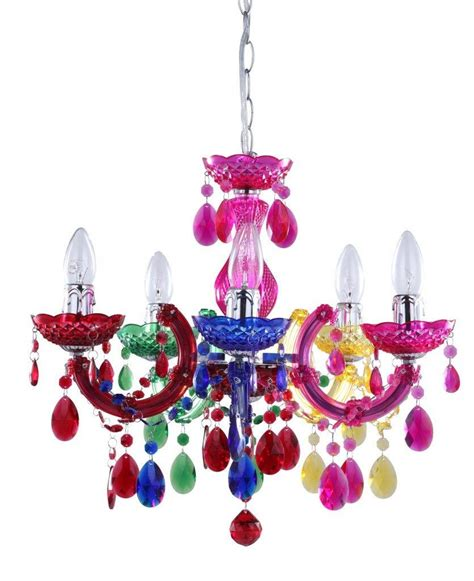 Multi Coloured Chandelier Therese Coloured Chandeliers Litecraft