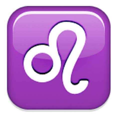 emoji zodiac symbols leo emoji u 264c u e243 u 264c u fe0f