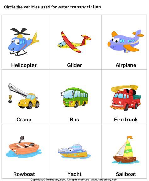 boat themed dog names waterways transportation worksheet turtle diary