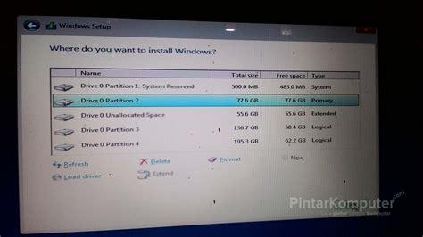 cara format hardisk baru di windows xp begini cara saya membagi partisi hardisk saat menginstal