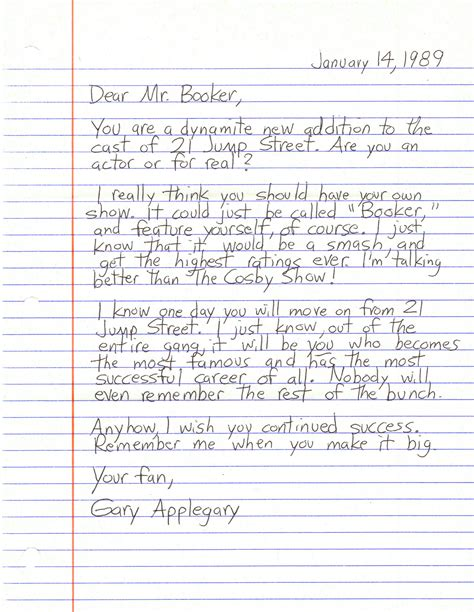 up letter dear dear detective dennis booker applegary