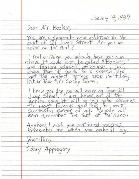 Dear Detective Dennis Booker Applegary