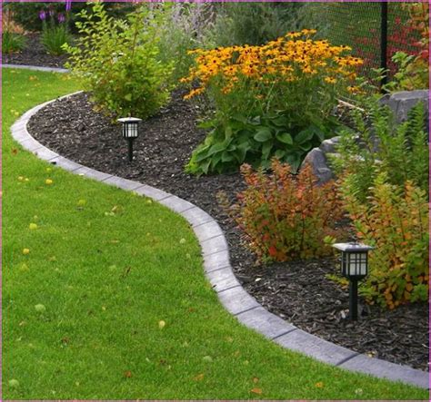 edging flower beds stone flower bed edging ideas gardens pinterest gardens