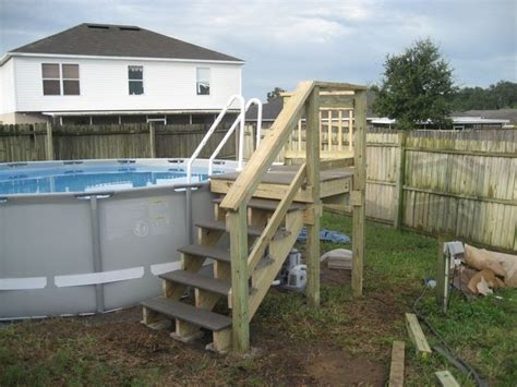 intex   custom deck  stairs