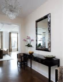 Mirror And Table For Foyer Lucite Console Table Contemporary Entrance Foyer Mcgill Design