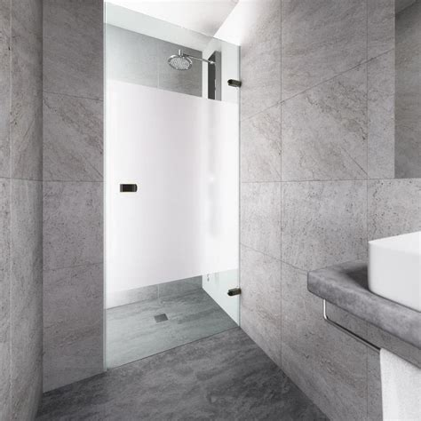 28 Shower Door Shop Vigo Tempo 28 In To 28 5 In W Frameless Antique Rubbed Bronze Hinged Shower Door At Lowes