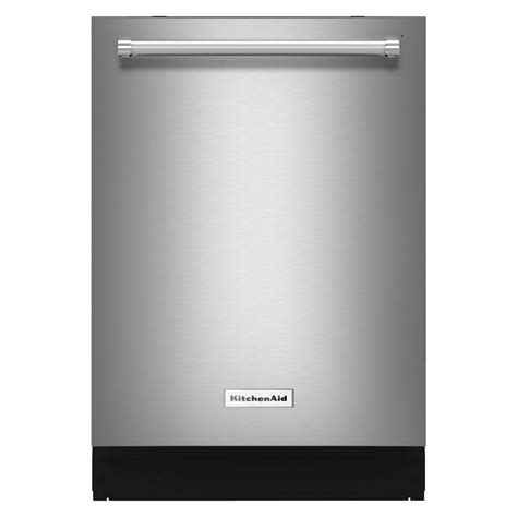 Kitchenaid Stainless Dishwasher by Kitchenaid 24 In Top Dishwasher In Stainless