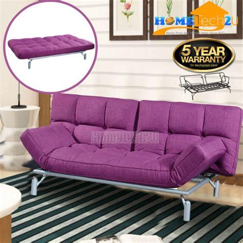 Sofa Bed Di Lazada clo contemporary 3 seater fabric sofa bed purple